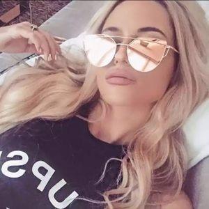 Luxury Cat Eye Sunglasses Gold/Pink